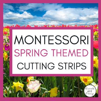 Spring Garden St. Patrick's Day Montessori Practical Life Cutting Strips