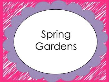 Spring Garden Writing