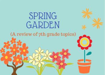 Spring Garden (a 7th grade math review mini project)