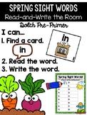 Spring Gardening Read and Write the Room {Kindergarten}