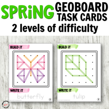 Spring Geoboard Cards for Fine Motor Centers
