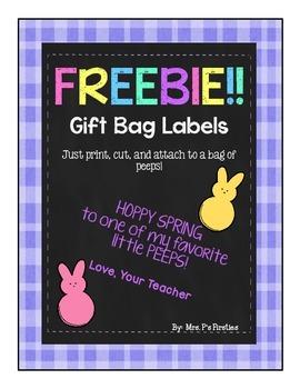 Spring Gift Tag Labels -- FREEBIE!