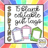 Spring Gift Tags | 15 Designs | Blank & Editable
