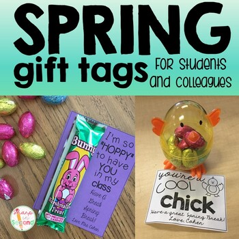 Spring Gift Tags {Editable}