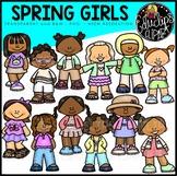 Spring Girls Clip Art Bundle {Educlips Clipart}