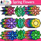 Spring Flowers Clip Art: Rainbow Floral Graphics {Glitter Meets Glue}