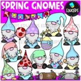 Spring Gnomes Clip Art Set {Educlips Clipart}