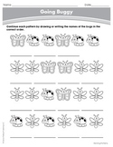 Spring Going Buggy Continuing Patterns Activity Grades K-1