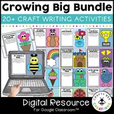 Google Classroom Distance Learning Crafts & Writing Big Bundle