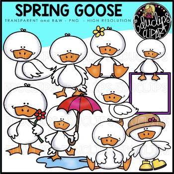 Spring Goose Clipart Bundle {Educlips Clipart}