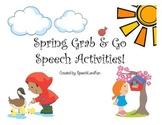 Spring Grab & Go Speech Activities