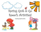 Spring Grab & Go Speech Activities