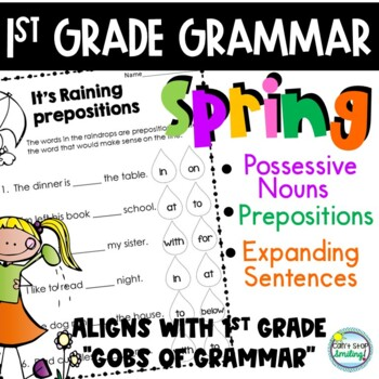 Grammar Spring Theme 1st Grade