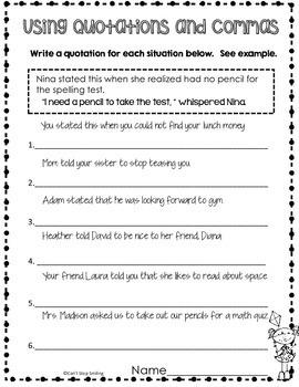 Spring Grammar 4th Grade