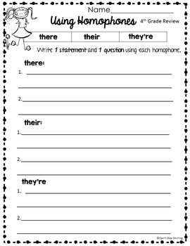 Spring Grammar 5th Grade