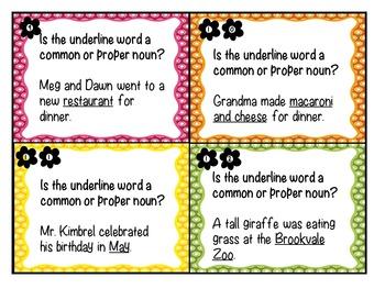 Common and Proper Noun Activities