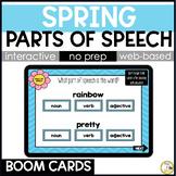 Spring Grammar BOOM CARDS: Parts of Speech