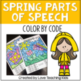 Spring Grammar Coloring Pages Parts of Speech