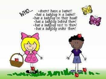 Spring Grammar Scenes: Wh- Questions/Pronouns/Prepositions