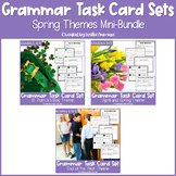 St. Patrick's Day, Spring, and End of the Year Grammar Task Cards BUNDLE