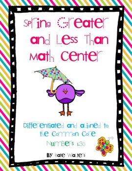 Spring Greater Than & Less Than Math Center {Aligned to Common Core}