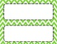 Spring Green Chevron Classroom Tags and Labels