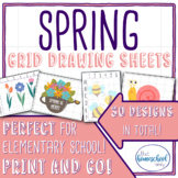 Spring Grid Drawing Set - Elementary and Homeschool