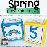 Spring Gross Motor Activity Movement Dice or Cards Preschool and Kinders