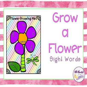 Spring Grow a Flower Sight Words