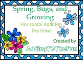 Bugs and Spring Growing -  Addition Dry Erase Cards