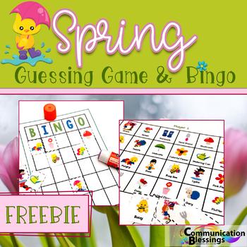 Spring Guessing Game and Bingo (Freebie)