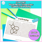 Spring Guided Grid Drawing: No Prep Visual Motor Integrati