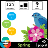Spring HOW MANY, WHAT SIZE, WHAT? Adapted book Level 1, Le