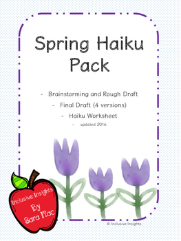 Spring Haiku Poetry Packet- Worksheet and Templates