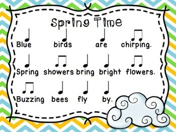 Spring Haiku Rhythm Activity
