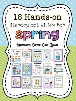 Spring Literacy Centers for Kindergarten