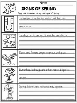 Spring Handwriting Lessons (Manuscript Edition)
