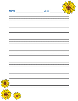 Spring Handwriting Paper