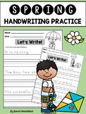 Spring Handwriting Practice (Sentences)