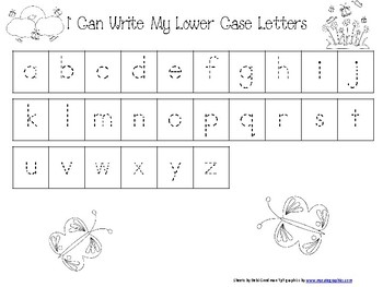 Spring Handwriting-Upper, Lower and Numbers