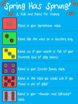 Spring Has Sprung!  A Roll and Read for Fluency