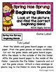 Spring Has Sprung Beginning Blends File Folder Game
