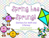 Spring Has Sprung! Centers for Math and Literacy