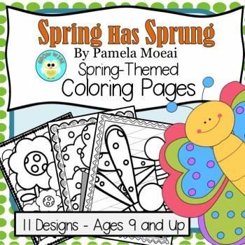 Spring Has Sprung Coloring Sheets