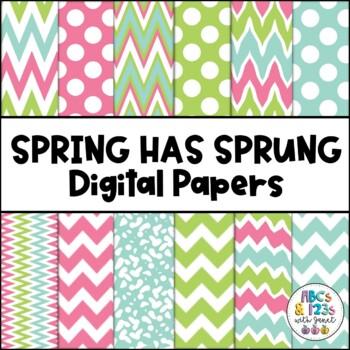 Spring Has Sprung Digital Paper Pack