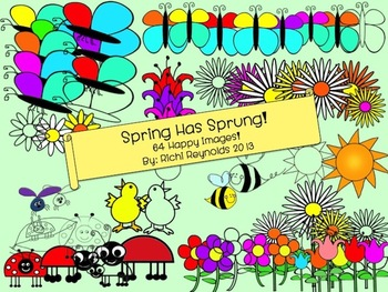 Spring Has Sprung! Flowers, Butterflies, Bees, Ladybugs & More Spring Clipart