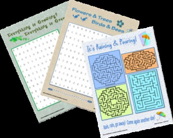 Spring Has Sprung - Fun Themed Puzzles
