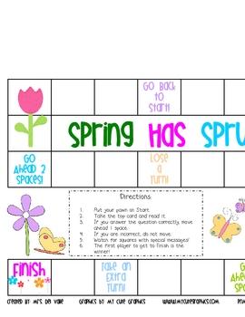 Spring Has Sprung! Literacy Game