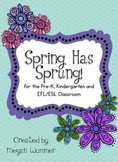 Spring Has Sprung Literacy & Math Pack for Pre-K, Kinderga