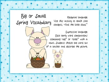 Spring Has Sprung Receptive and Expressive Language Activities for Preschoolers